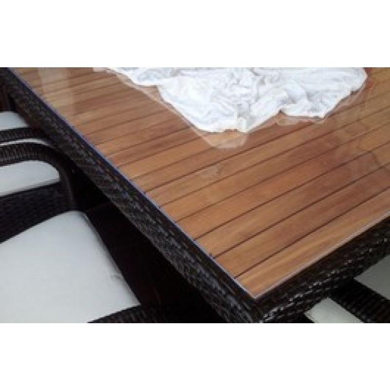 pvc tischdecke bis 90cm breite 2 2mm st rke glasklar pvc. Black Bedroom Furniture Sets. Home Design Ideas