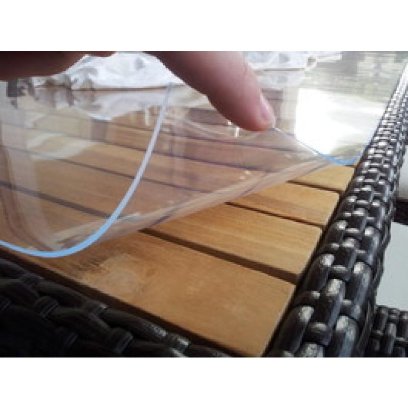 pvc tischdecke bis 150cm breite 2mm st rke glasklar pvc meterware pvc. Black Bedroom Furniture Sets. Home Design Ideas