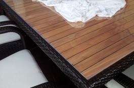 PVC-Tischdecke bis 90cm Breite, 2,2mm Stärke, glasklar