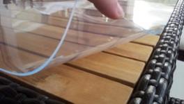 PVC-Tischdecke bis 120cm Breite, 2,2mm Stärke, glasklar